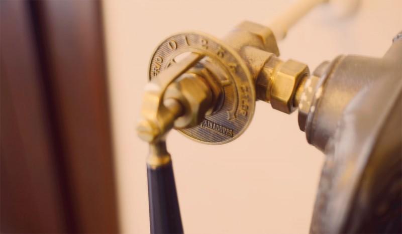 Detalle, paso de la calefacción del estilo antiguo