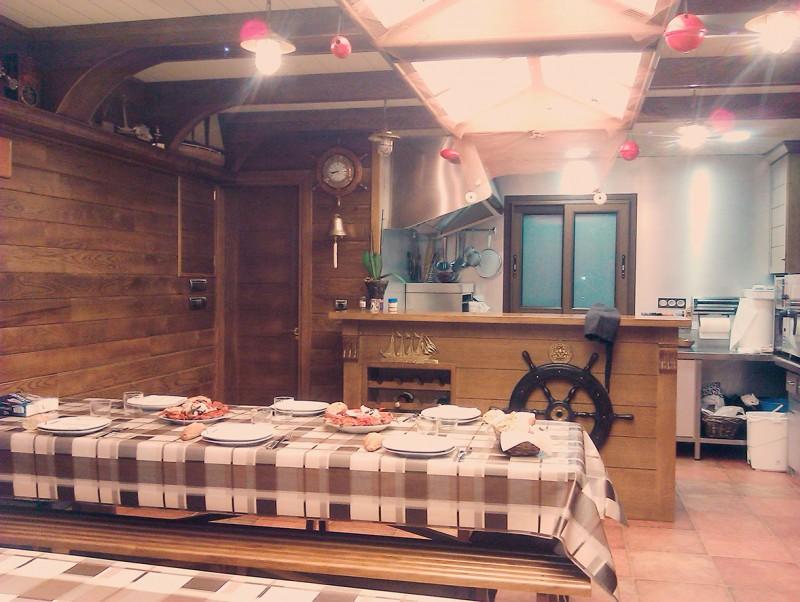 Diseño cocina con temática barco