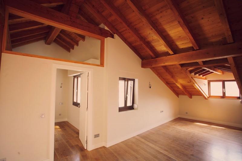 Estructura interior del tejado
