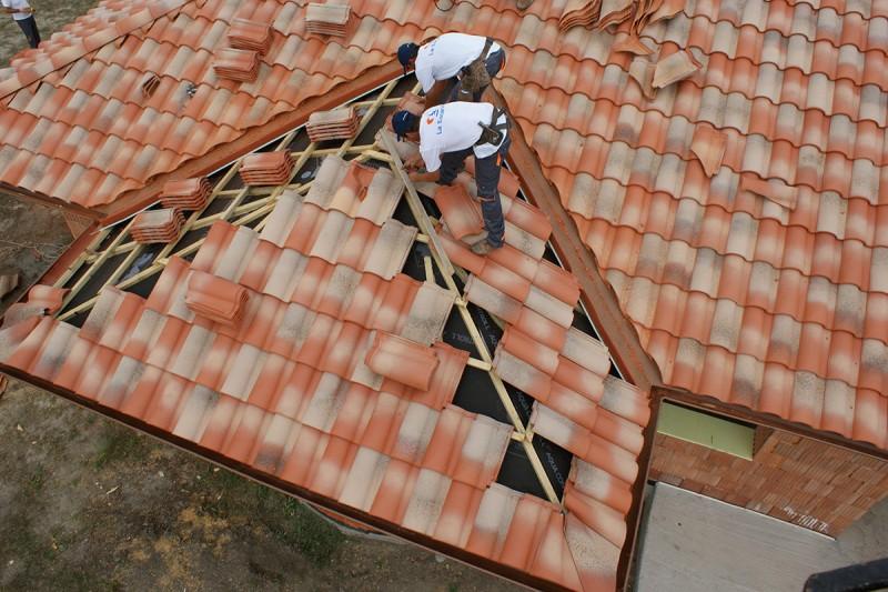 Finalizando reforma tejado
